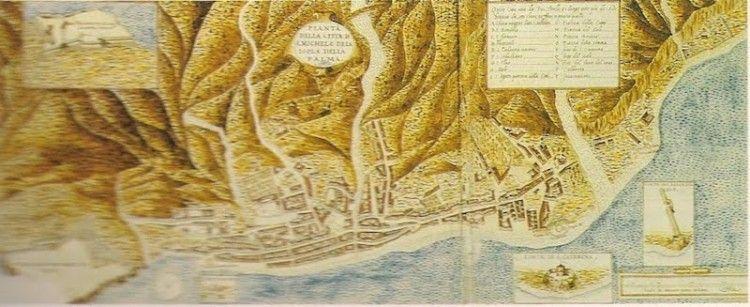 Plano de Santa Cruz de La Palma, levantado por el ingeniero L. Torriani (siglo XVI)