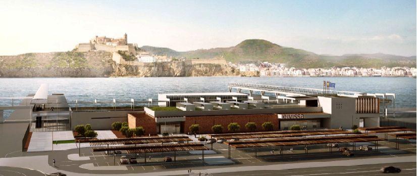 Impresión artística de la futura estación marítima de Ibiza