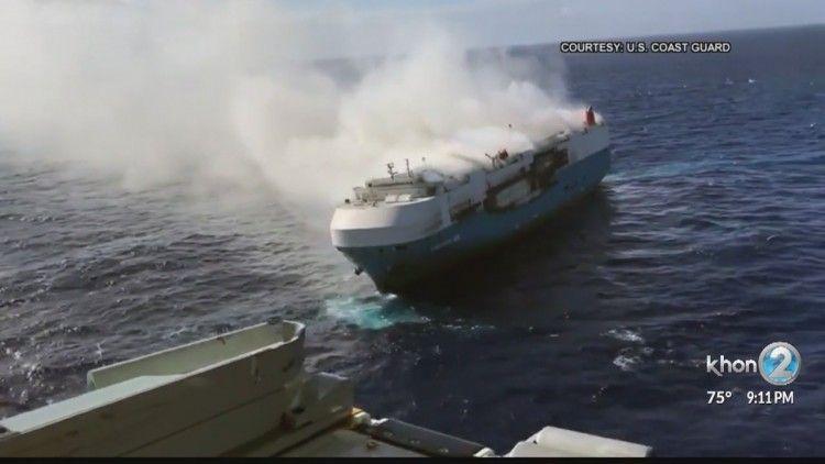 """El buque """"Sinceryt Ace"""" está ardiendo desde el pasado 31 de diciembre"""