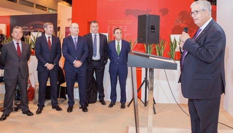 Este mediodía se ha presentado el stand de Naviera Armas-Trasmediterránea en Fitur