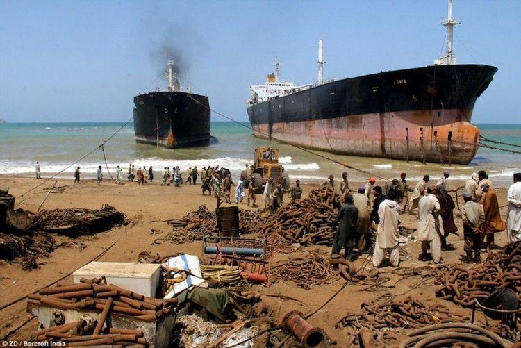 India, Pakistán y Bangla Desh reciben el mayor desguace de petroleros