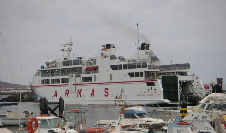 """El ferry """"Volcán de Tindaya"""" entrará en varada anual reglamentaria"""