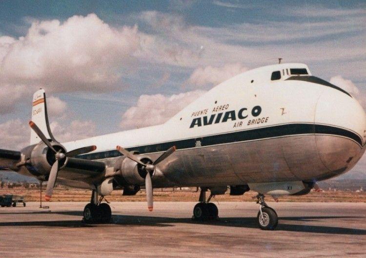 Avión ATL-98 Carvair de Aviaco, única compañía que operó este modelo en España
