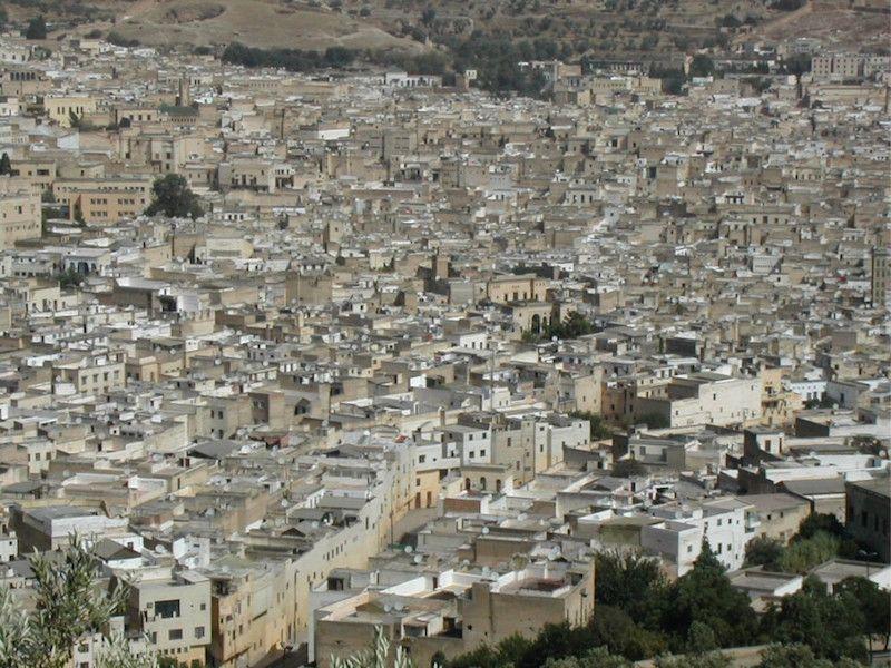 Panorámica de la medina de Fez