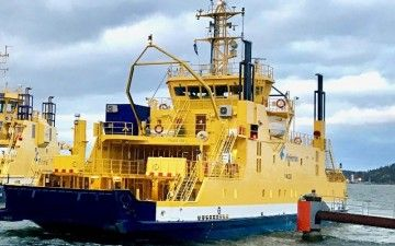 """Este es el buque """"Falco"""", un ferry """"double ended"""" en servicio desde 1993"""