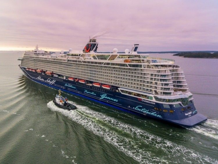 """El buque """"Mein Schiff 2"""", en pruebas de mar en aguas de Finlandia"""