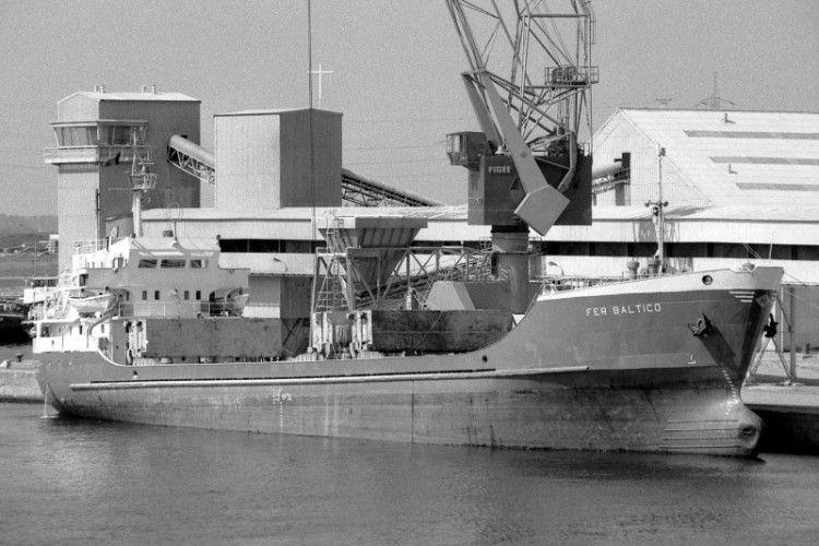 """El buque """"Fer Báltico"""", en su etapa española"""