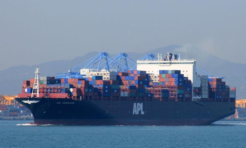"""Este es el buque afectado, """"APL Vancouver"""", en servicio desde 2013"""
