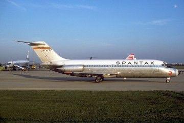 Spantax tuvo una flota de tres aviones Douglas DC-9 serie -14