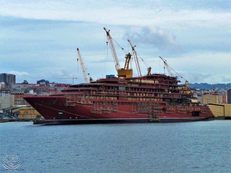 """Este es el aspecto del buque """"Azora"""", a casi un año de su entrega"""