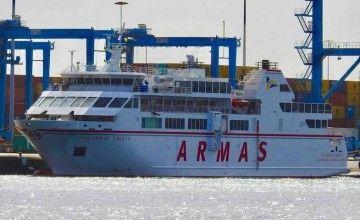 """El ferry """"Volcán de Tindaya"""", de nuevo en servicio"""