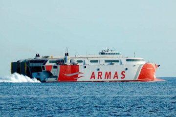 """El catamarán """"Volcán de Tirajana"""" atiende la línea El Hierro-Los Cristianos"""