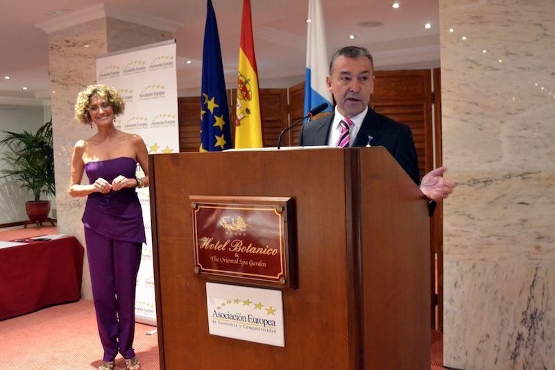 Paulino Rivero habló en nombre de todos los galardonados