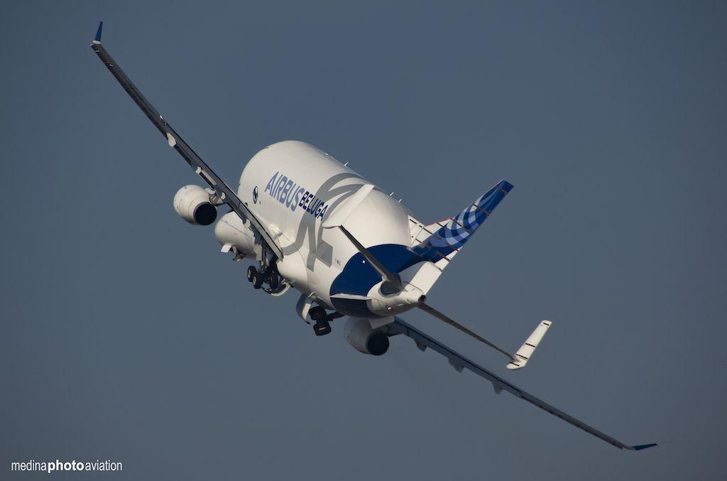 El gigante de Airbus permaneció seis días haciendo pruebas en Sevilla