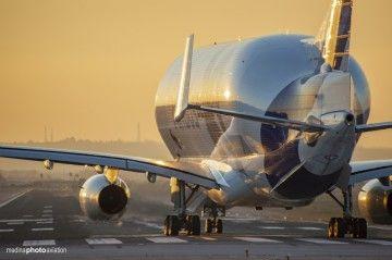 El primer Beluga XL de Airbus (F-WBX), en su reciente estancia en Sevilla