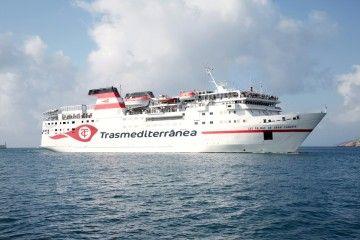 """El ferry """"Las Palmas de Gran Canaria"""" es uno de los comodines de Trasmediterránea"""