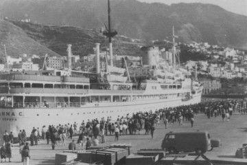 """El trasatlántico italiano """"Anna C"""", en su escala en Santa Cruz de La Palma"""