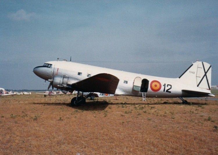 El avión DC-3 fue un destacado protagonista en el Ejército del Aire español