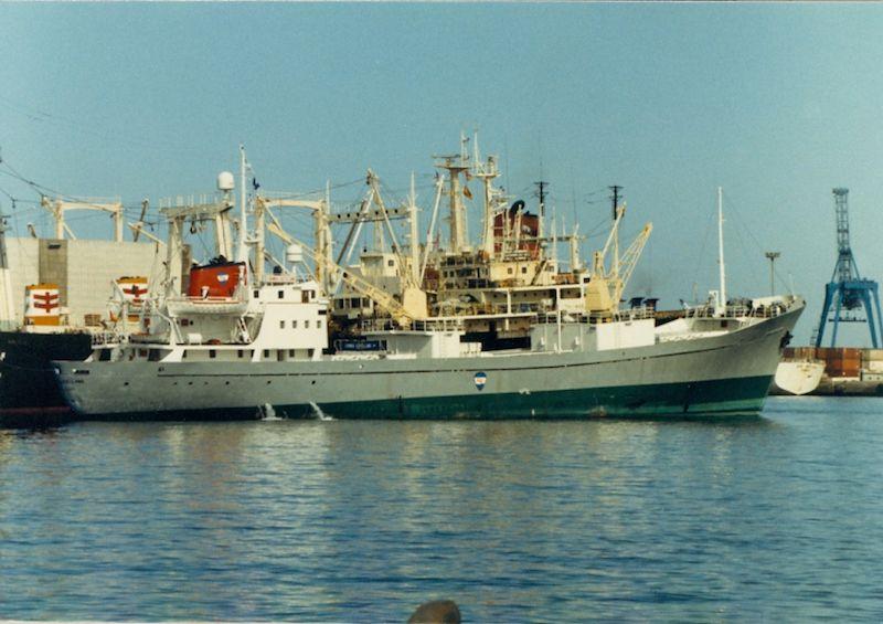 """Estampa marinera del buque """"Carmen Castellano"""""""