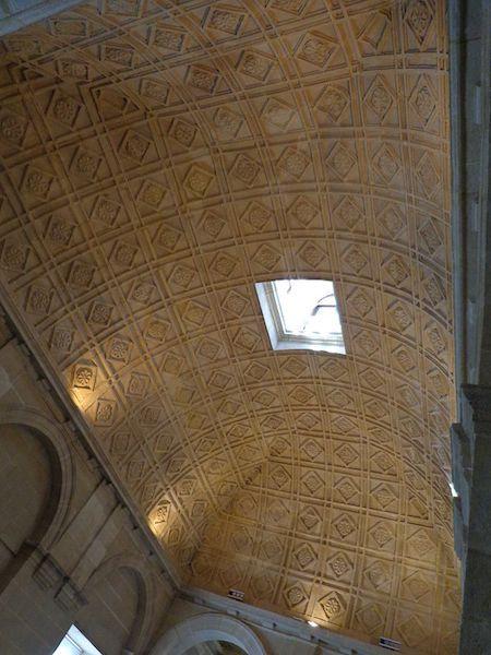 Detalle de la decoración de las bóvedas vaídas del piso alto