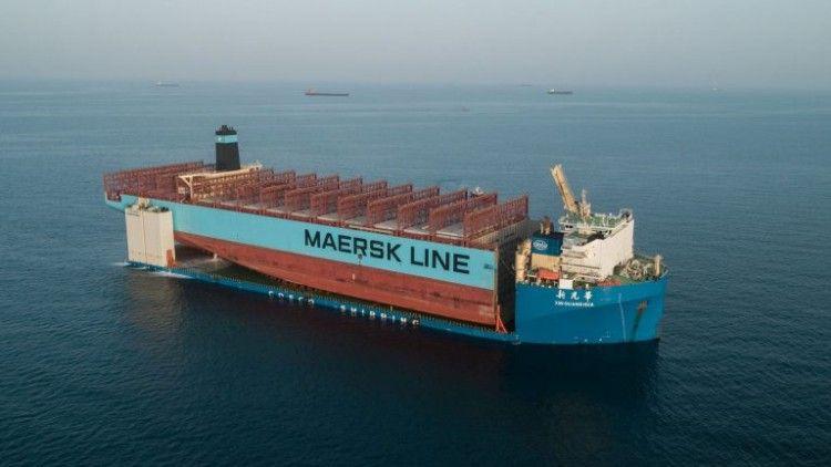 """La sección del buque """"Maersk Honam"""" está camino de Corea del Sur"""