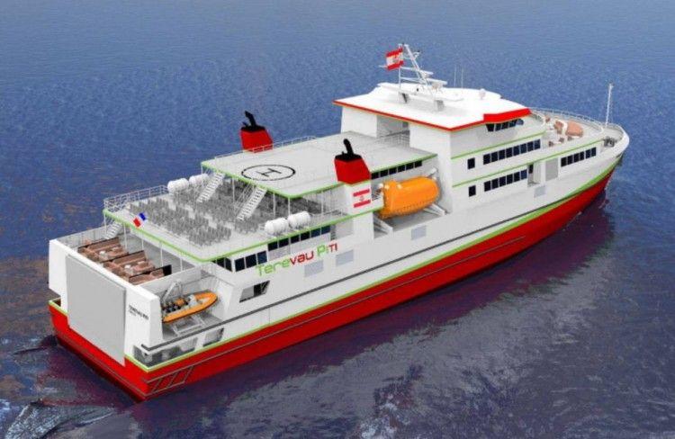 """Este será el aspecto exterior del ferry """"Terevau Piti"""""""