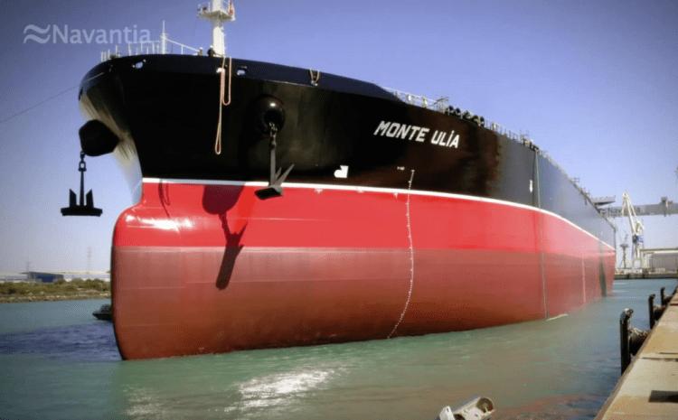 """El petrolero """"Monte Ulía"""", cuarto y último de la serie, ya está a flote"""