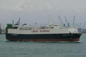"""El buque """"Arroyofrío Uno"""", en aguas de Valencia"""