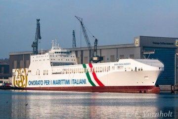 """Estampa marinera del buque """"María Grazia Onorato"""""""