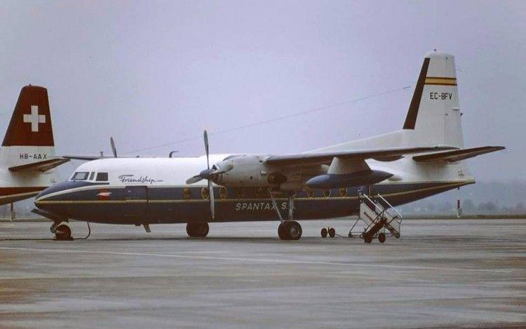 Este fue el primer avión Fokker F-27 que voló en España