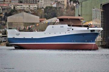 """El buque pesquero """"Lalandi"""", tras su puesta a flote"""