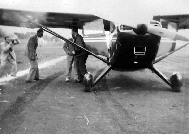 La llegada de la avioneta (1952) fue un gran acontecimiento