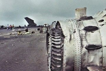 Restos del accidente fotografiados un día después de consumada la tragedia