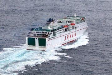 """Los buques """"Volcán del Teide"""" y """"Volcán de Tinamar"""" son los mayores y más modernos del Grupo Armas-Trasmediterránea"""