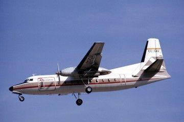 El avión Fokker F-27 de Aviaco Ec-CAU, con su primera librea