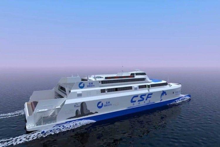 Esta será el aspecto externo del futuro catamarán de FSC