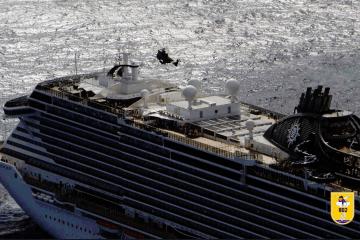 """Un helicóptero del SAR atiende la emergencia del buque """"MSC Seaview"""""""