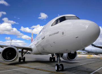 Amelia Earhart , nombre del más reciente A320neo de Iberia