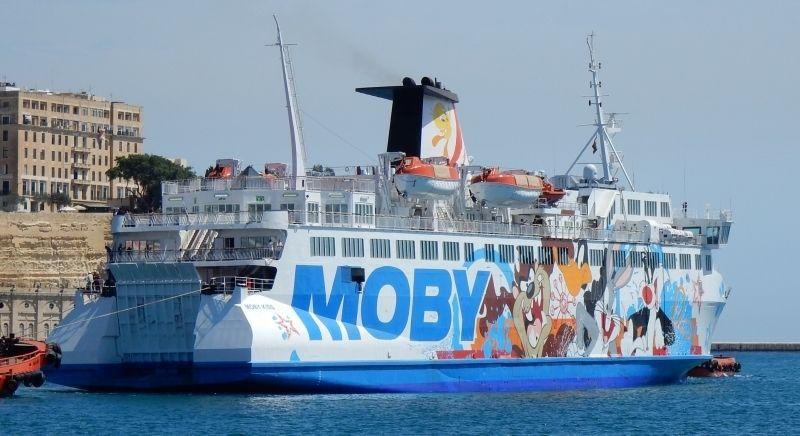 "Este es el aspecto actual del ferry ""Moby Kiss"""