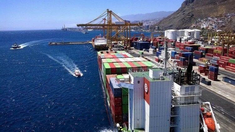 El tráfico de contenedores en el puerto de Santa Cruz de Tenerife sigue en caída