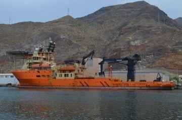 """El buque """"Toisa Paladin"""" visto en toda su eslora, por la banda de babor"""