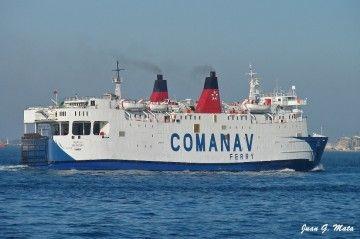 """El buque """"Ibn Batouta"""", repintado con los colores de Comanav"""