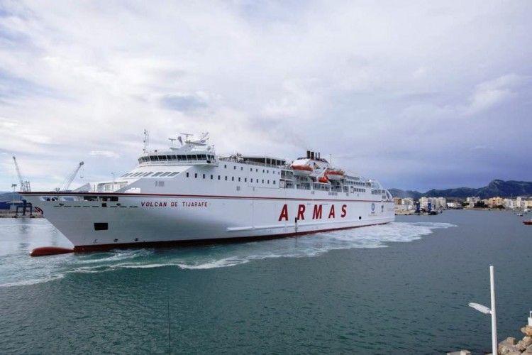 El Grupo Armas-Trasmediterránea se ha instalado en la línea Gandia-Ibiza-Palma