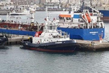 """El remolcador """"VB Tamarán"""", atracado en el puerto de Las Palmas de Gran Canaria"""