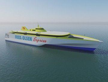 """El segundo de los nuevos trimaranes de Fred. Olsen se llamará """"Bañaderos Express"""""""