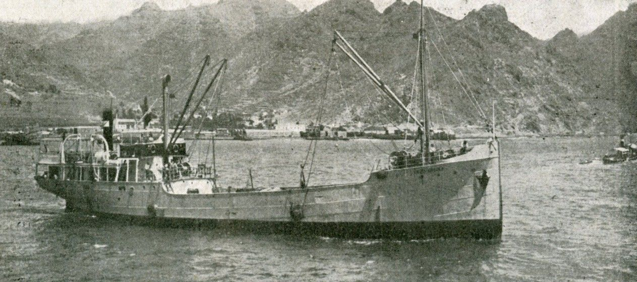 """El buque frutero """"Santa Úrsula"""", en una publicación de la revista """"Hespérides"""" (1927)"""