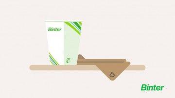 Binter sustituye el plástico por el cartón homologado