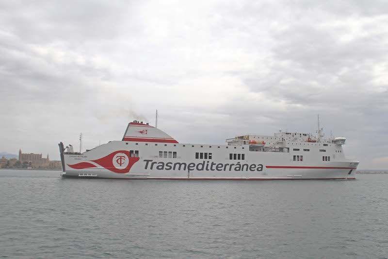 """Es el quinto buque con el nombre de """"Ciudad de Palma"""" en la historia de Trasmediterránea"""