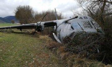 El avión C-295 se salió de la pista y hay nueve heridos