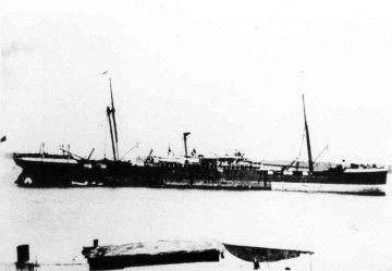 """Estampa marinera del vapor """"Almirante Díaz"""""""